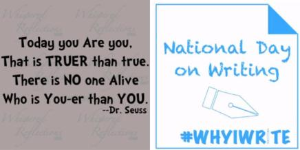 #nationaldayofwriting - You are You-er than You!
